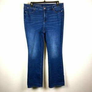 Talbots Flawless 5 Pocket Barely Boot Blue Jeans